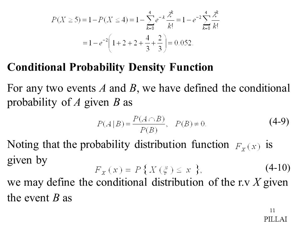 Conditional Probability Density Function