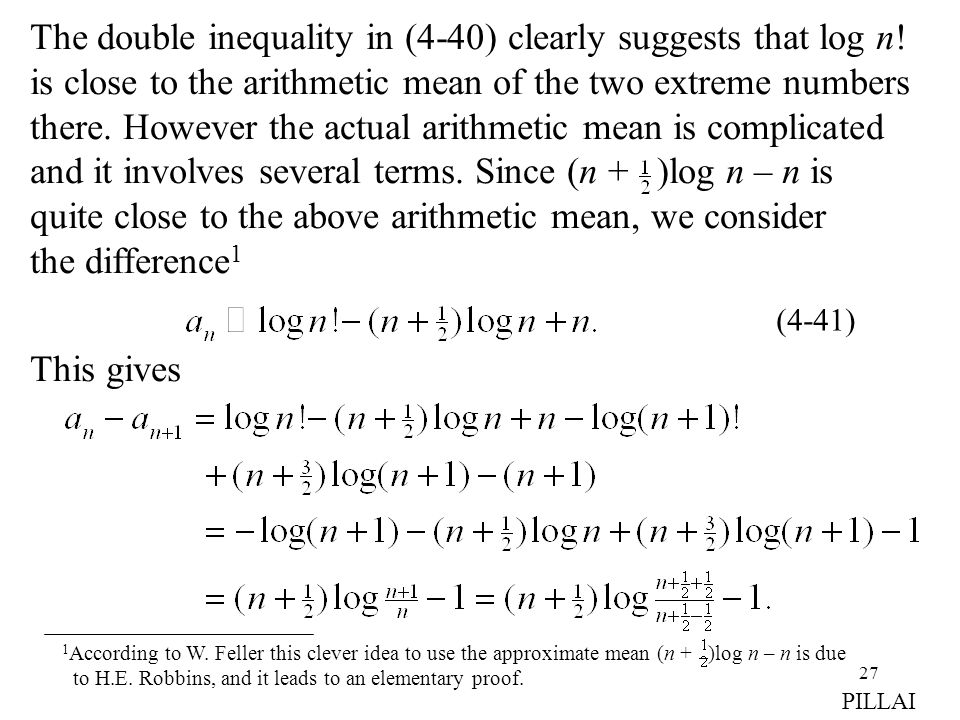 The double inequality in (4-40) clearly suggests that log n!