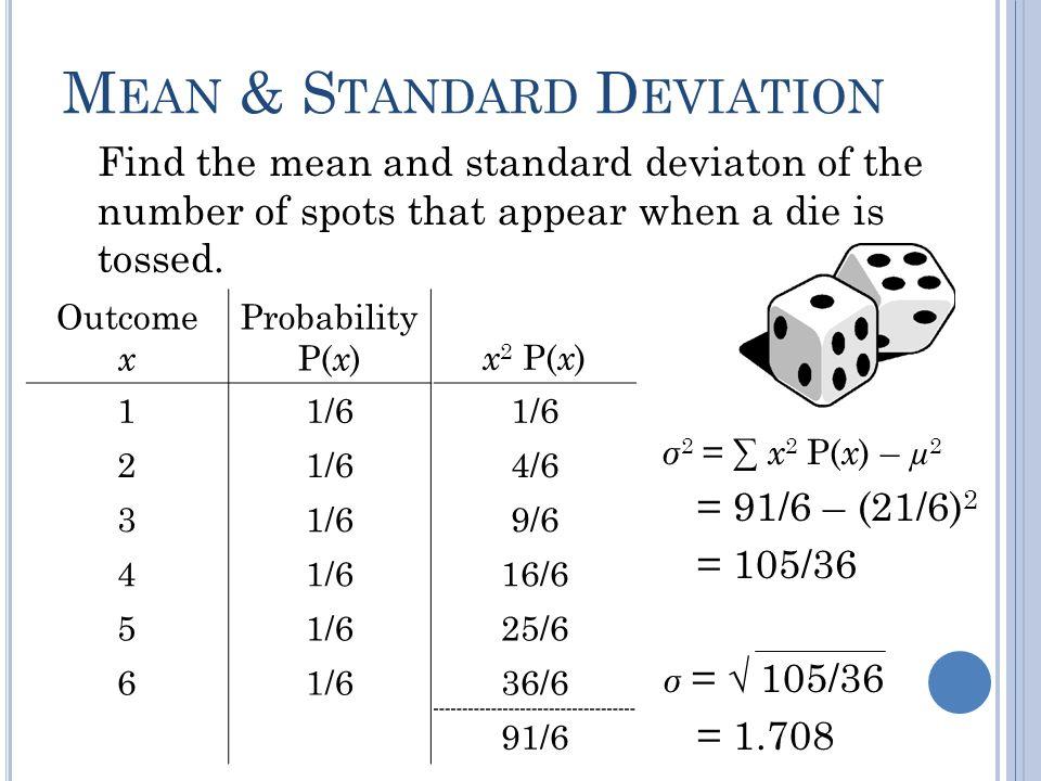 Mean & Standard Deviation