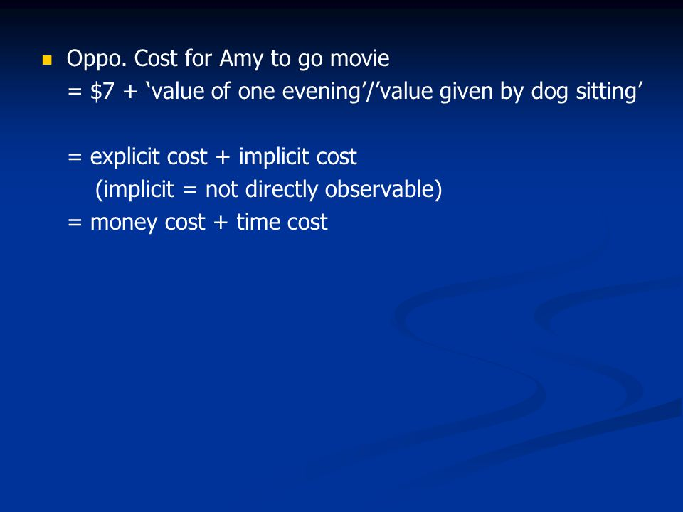 Oppo. Cost for Amy to go movie
