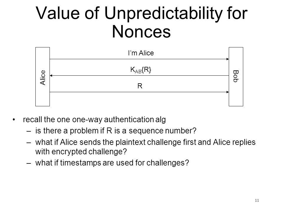 Value of Unpredictability for Nonces