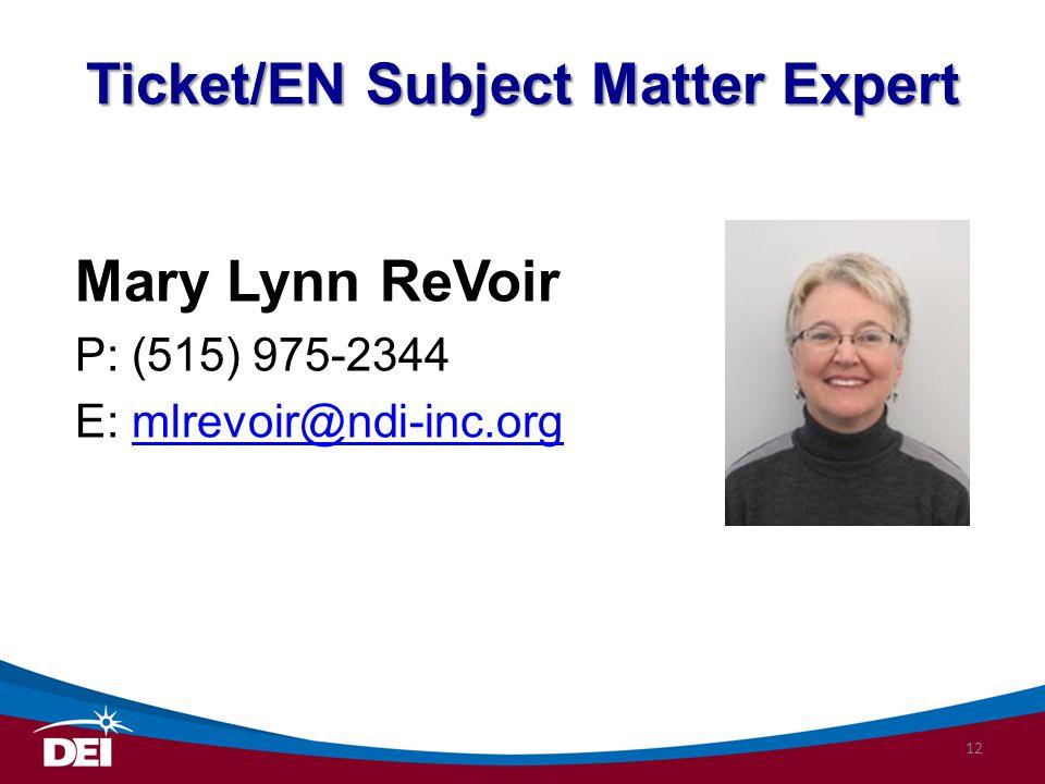 Ticket/EN Subject Matter Expert