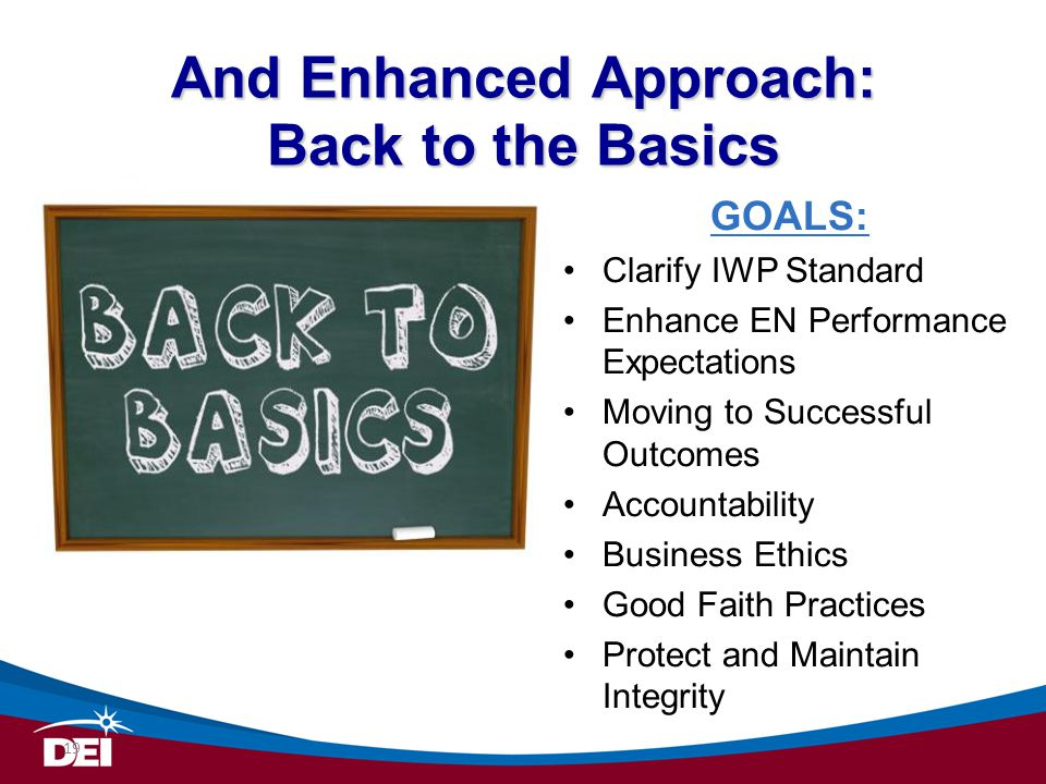 And Enhanced Approach: Back to the Basics