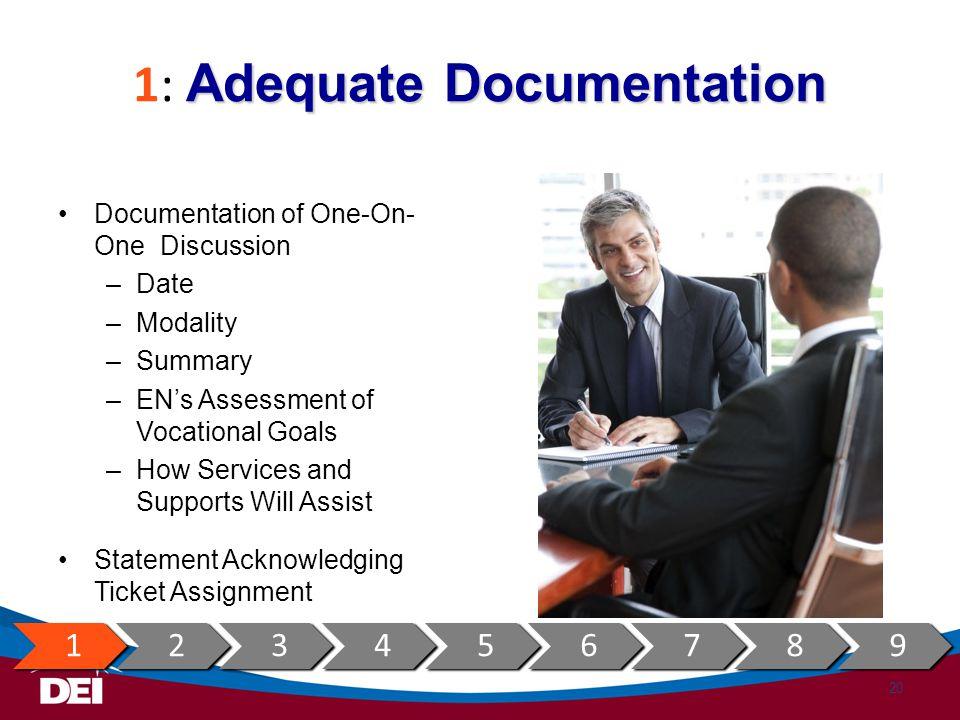 1: Adequate Documentation