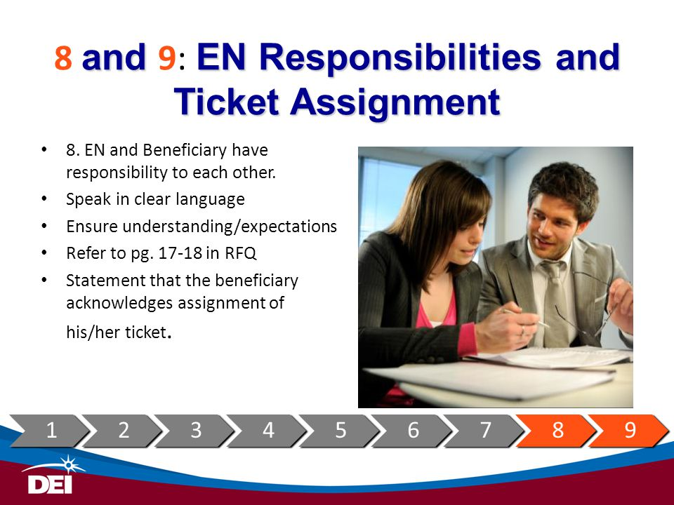 8 and 9: EN Responsibilities and Ticket Assignment