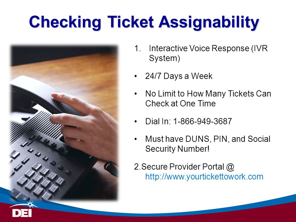 Checking Ticket Assignability