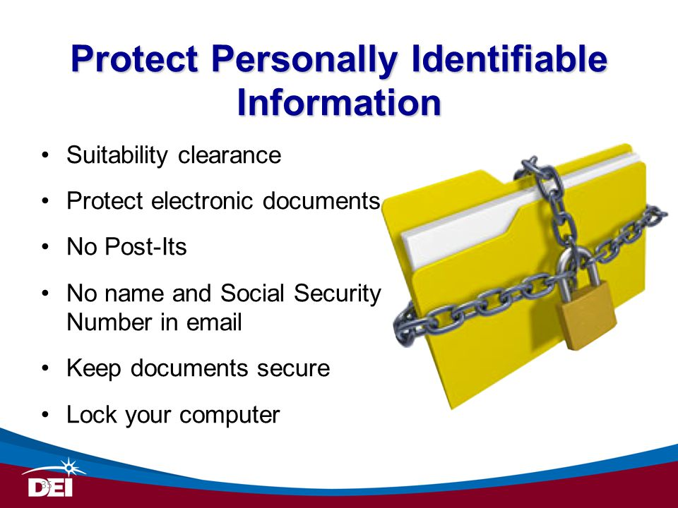 Protect Personally Identifiable Information