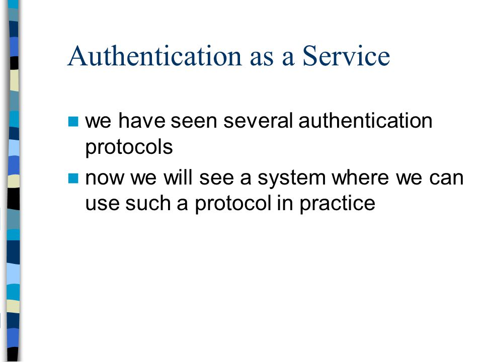 Authentication as a Service