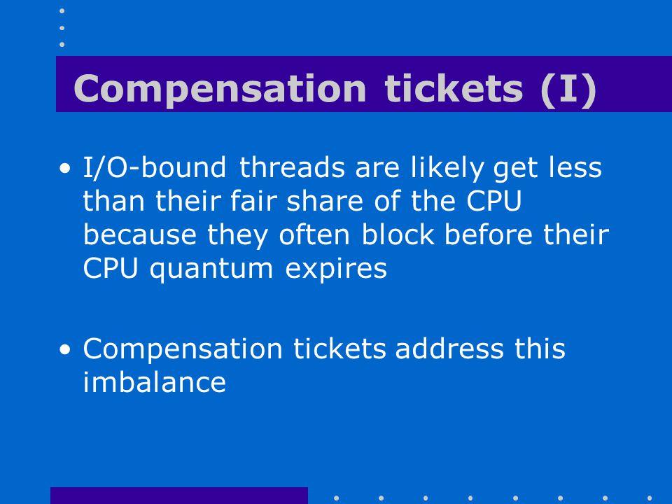 Compensation tickets (I)