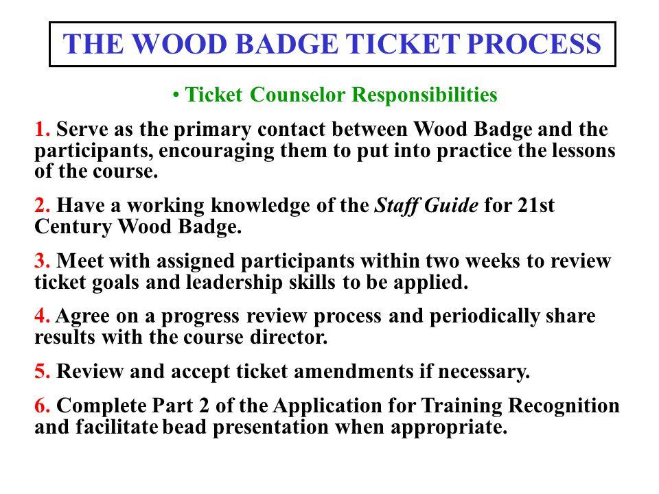 THE WOOD BADGE TICKET PROCESS ppt download – Wood Badge Ticket Worksheet