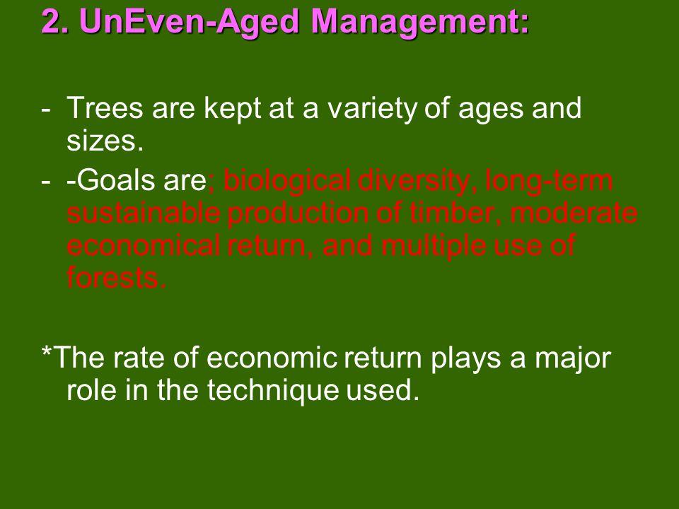 2. UnEven-Aged Management: