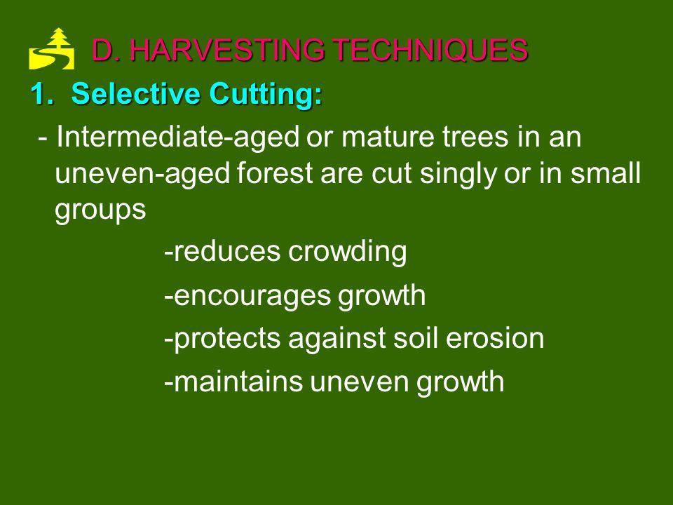 D. HARVESTING TECHNIQUES