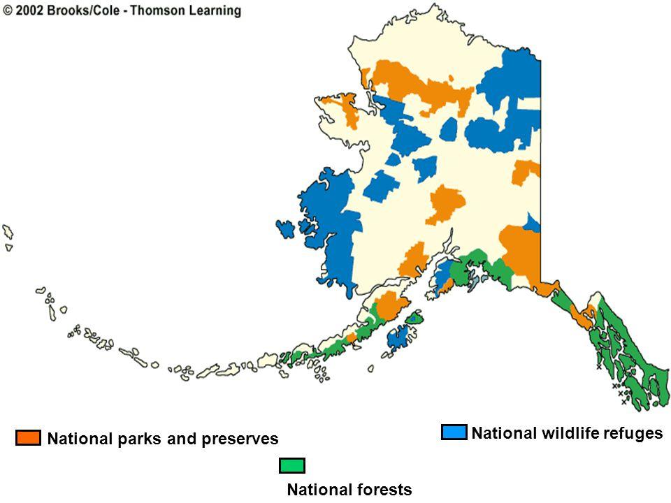 National wildlife refuges National parks and preserves