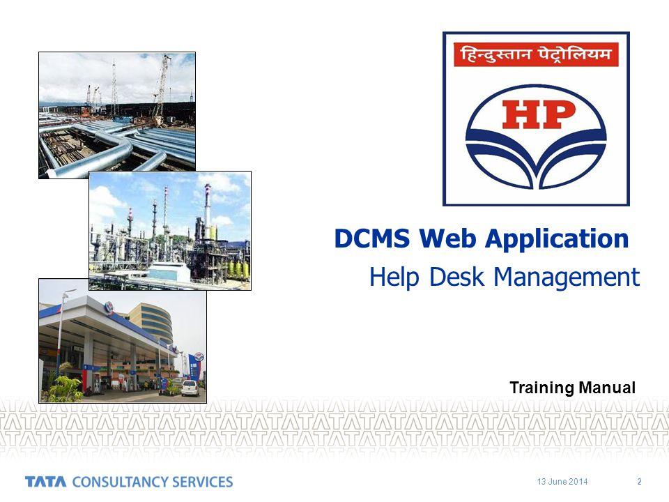 DCMS Web Application Help Desk Management Training Manual