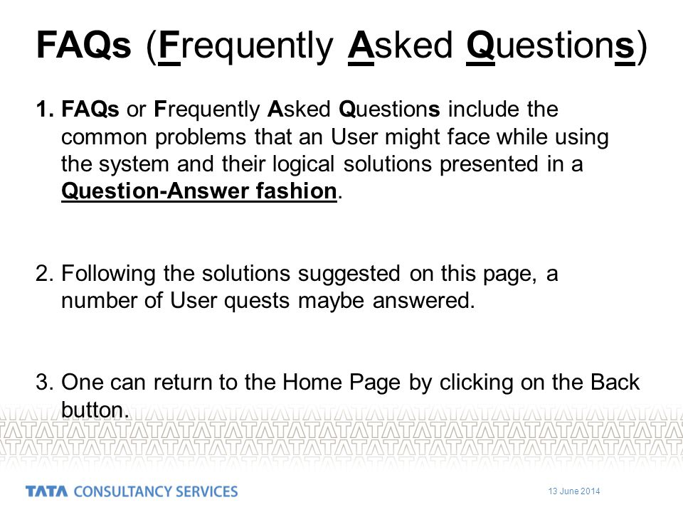 FAQs (Frequently Asked Questions)