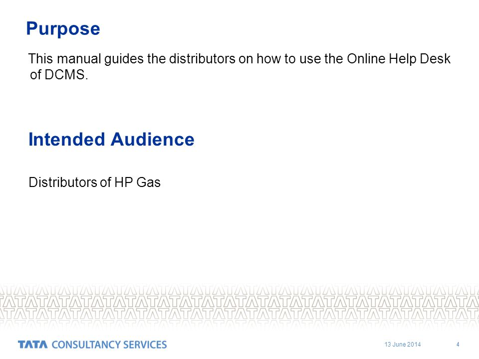 Intended Audience Purpose