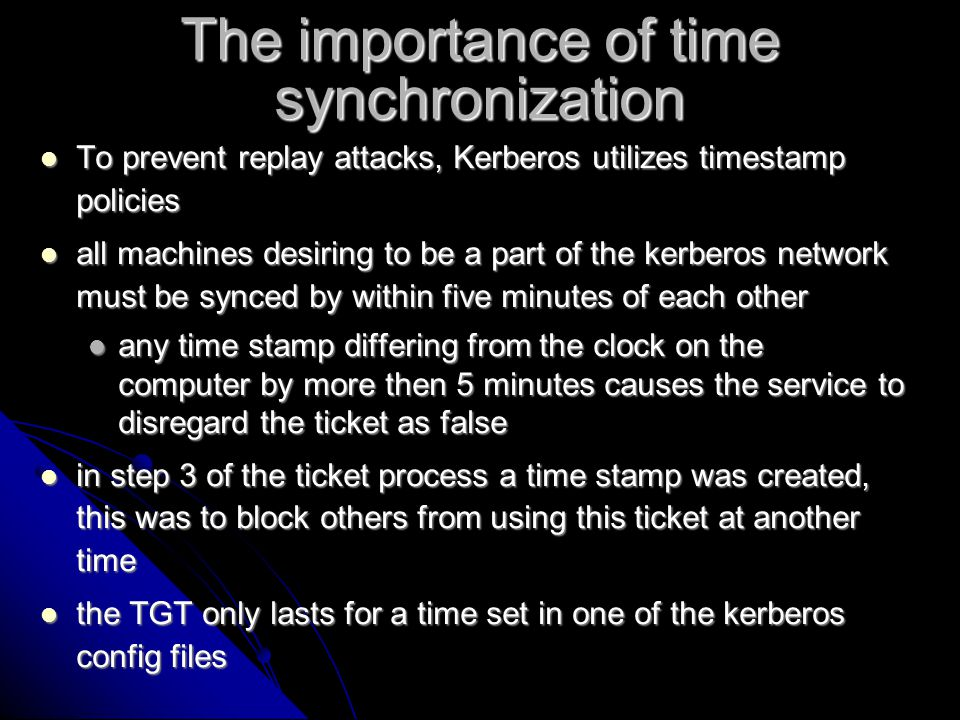 The importance of time synchronization