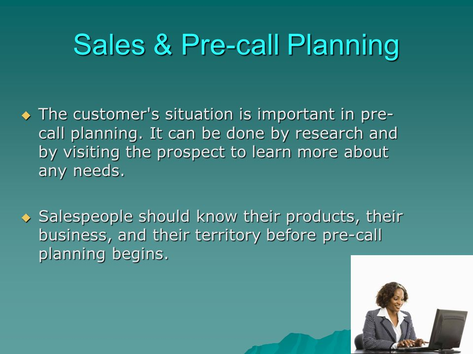 Sales & Pre-call Planning