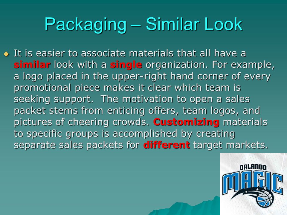 Packaging – Similar Look
