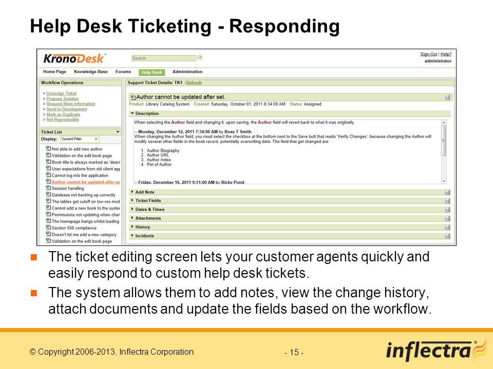 Help Desk Ticketing - Responding