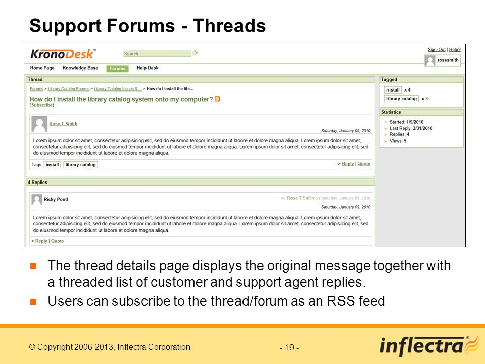 Support Forums - Threads