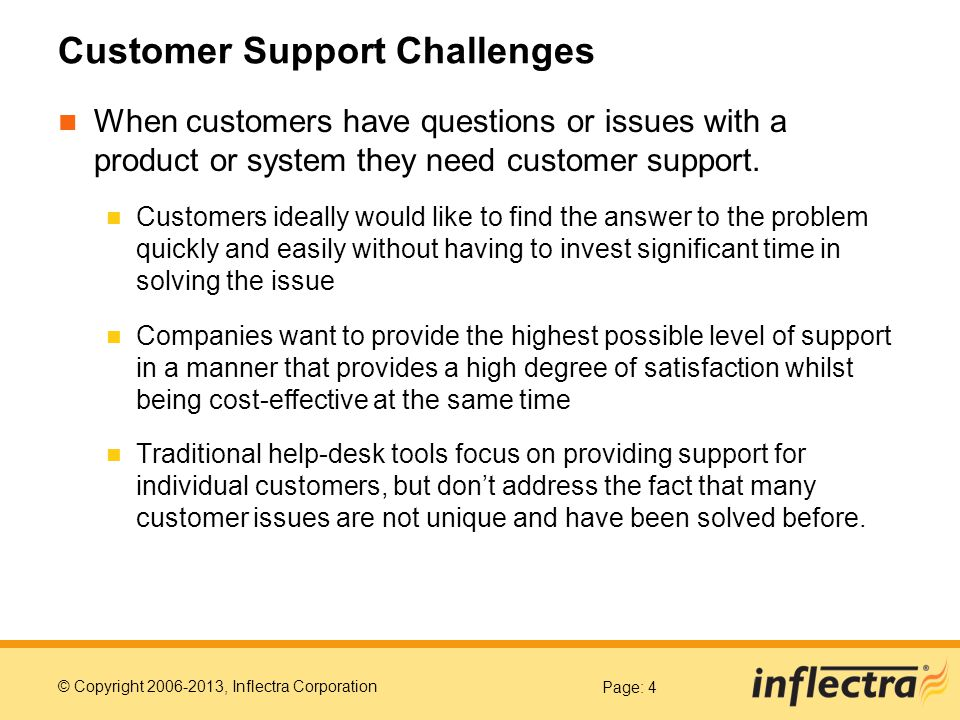 Customer Support Challenges