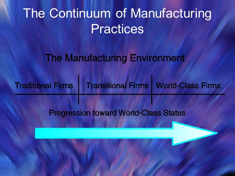 The Continuum of Manufacturing Practices