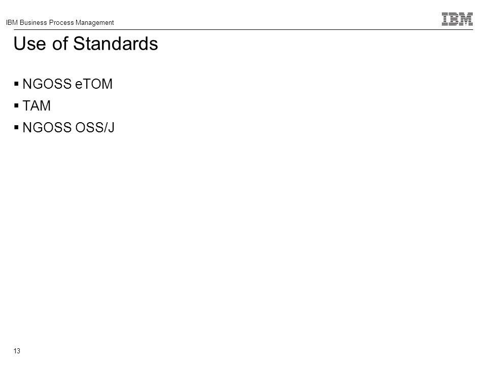 Use of Standards NGOSS eTOM TAM NGOSS OSS/J
