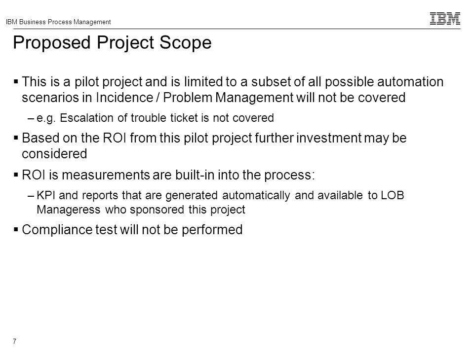 Proposed Project Scope