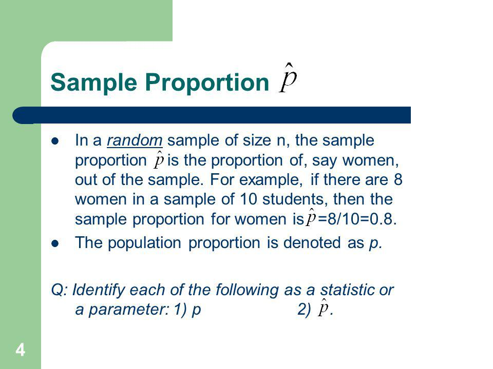 Sample Proportion