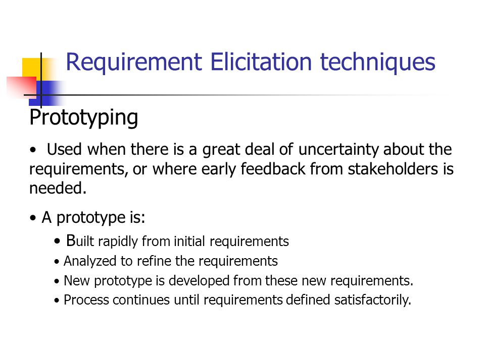 Requirement Elicitation techniques