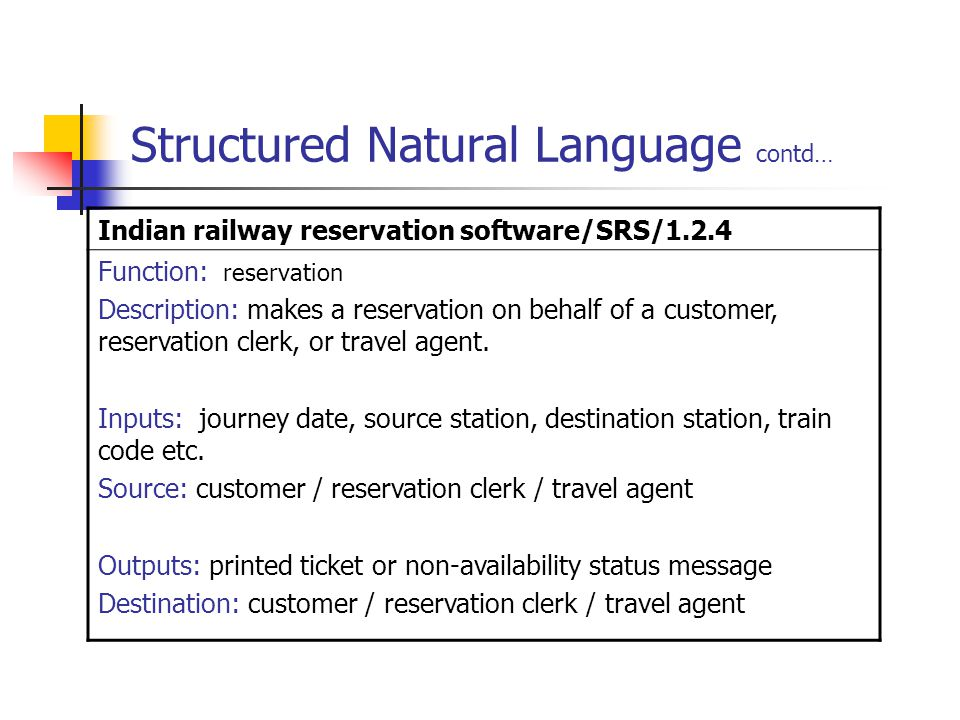 Structured Natural Language contd…
