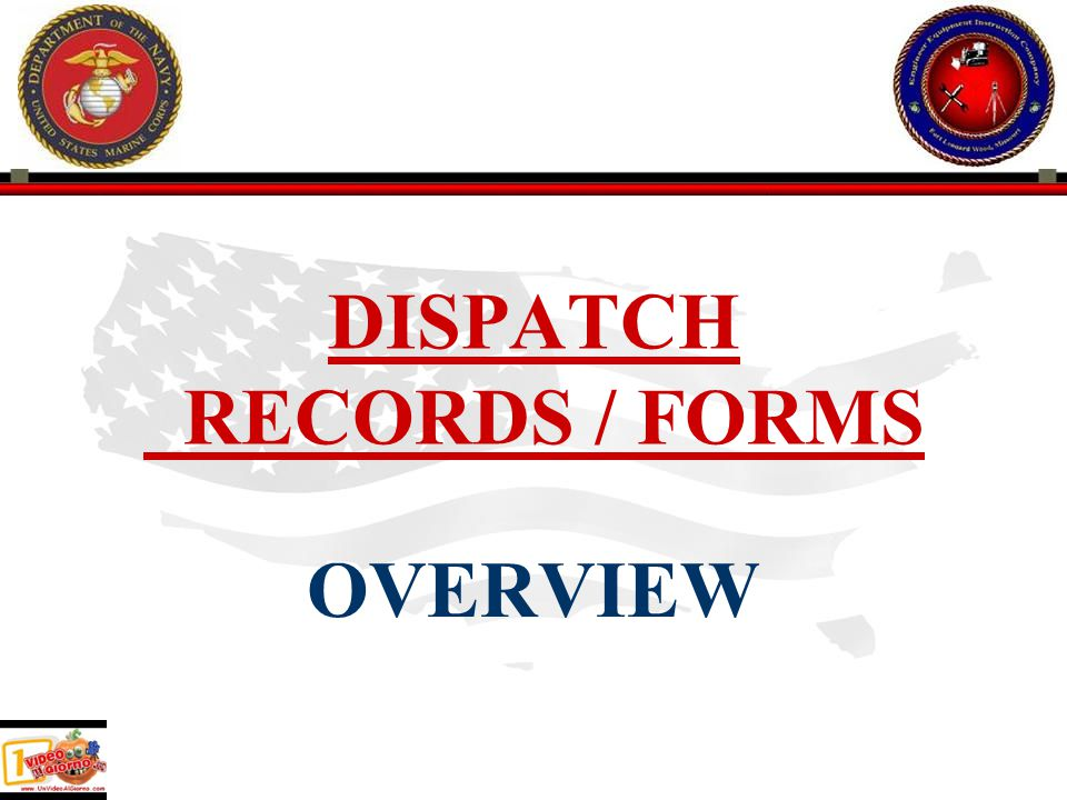 DISPATCH RECORDS / FORMS