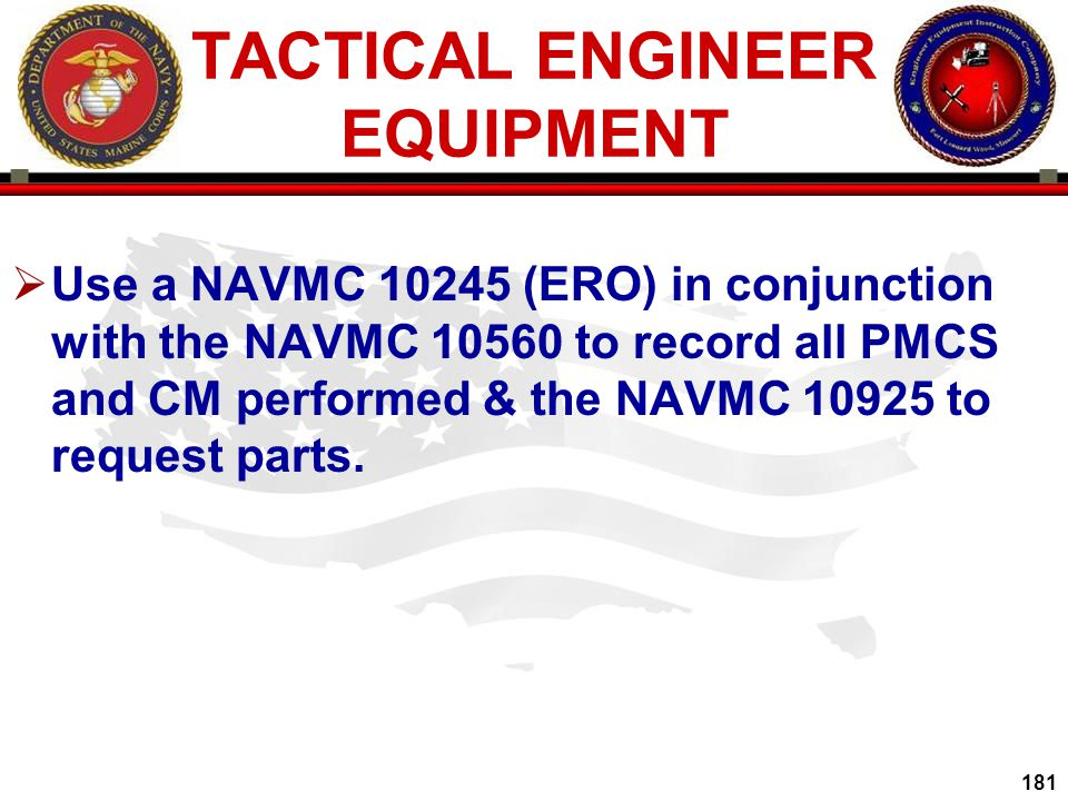 TACTICAL ENGINEER EQUIPMENT