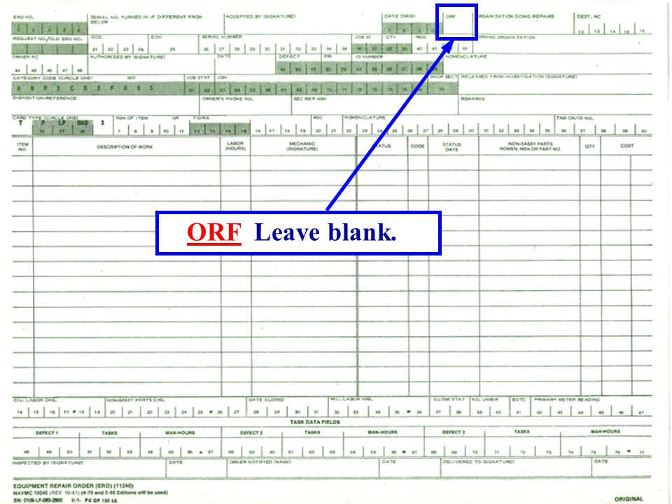 ORF Leave blank.