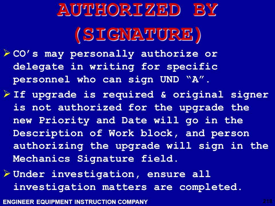 AUTHORIZED BY (SIGNATURE)