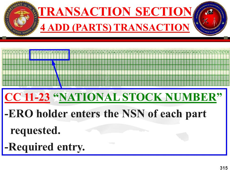4 ADD (PARTS) TRANSACTION
