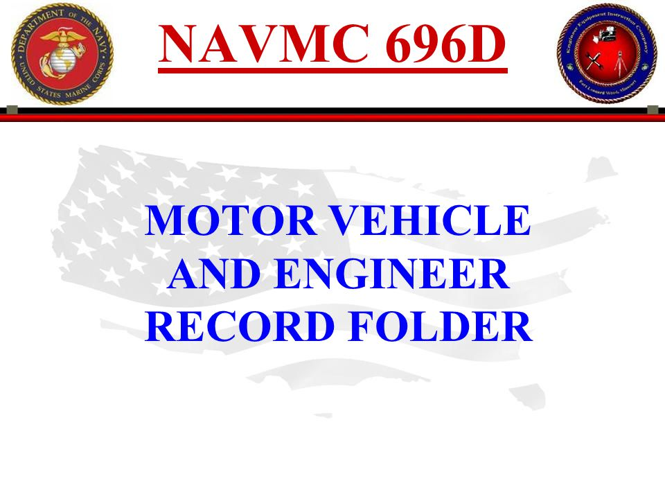 MOTOR VEHICLE AND ENGINEER RECORD FOLDER