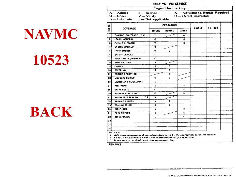 NAVMC 10523 BACK