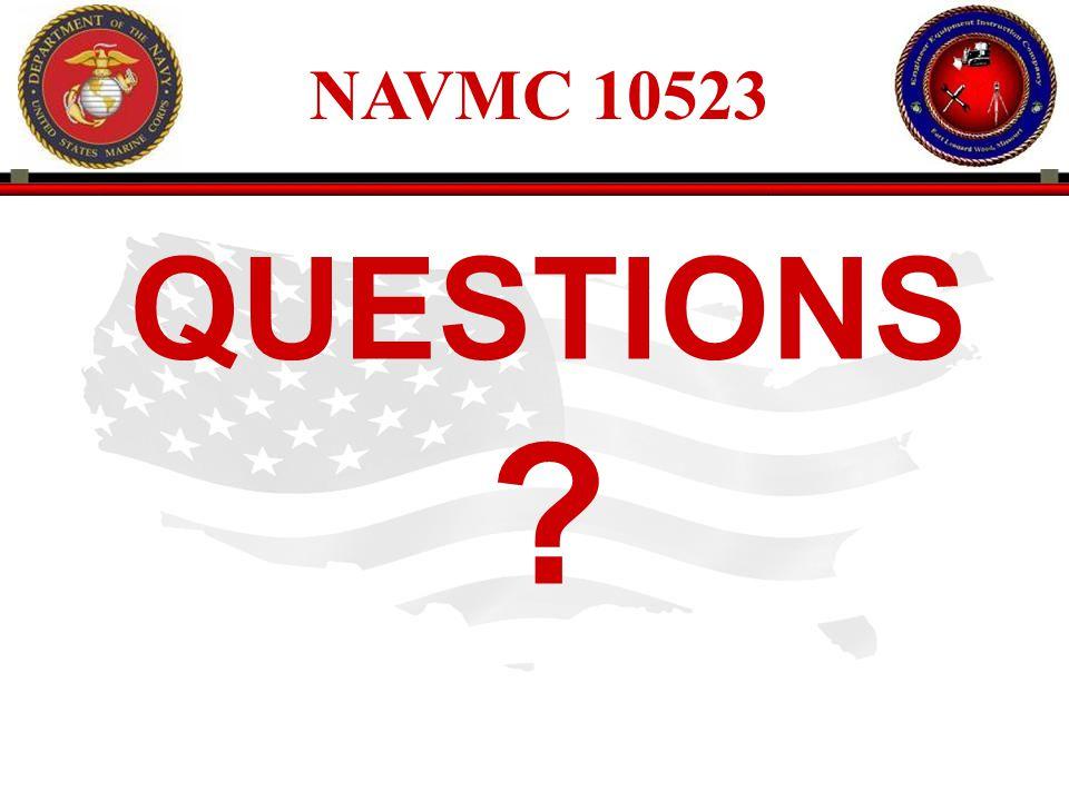 NAVMC 10523 QUESTIONS