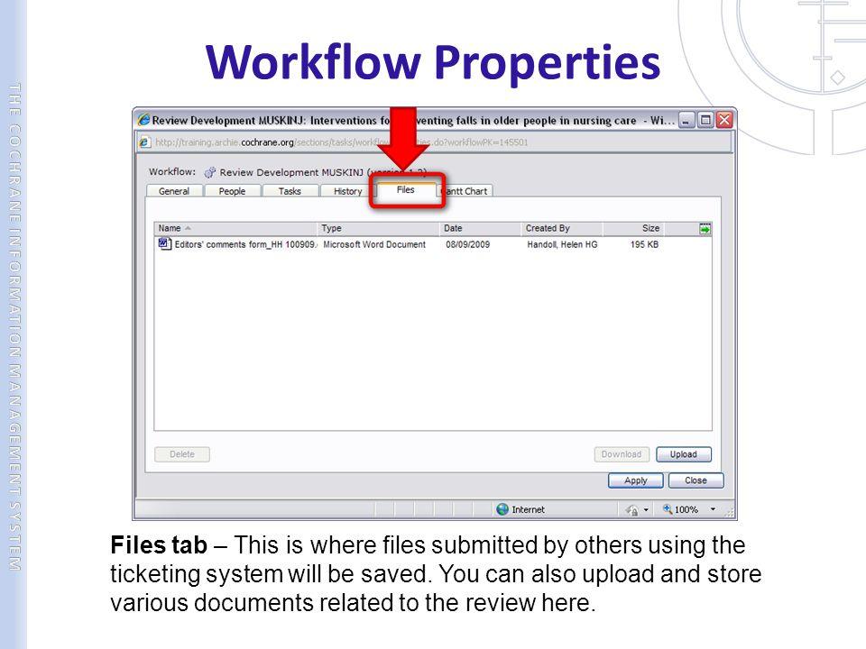 Workflow Properties