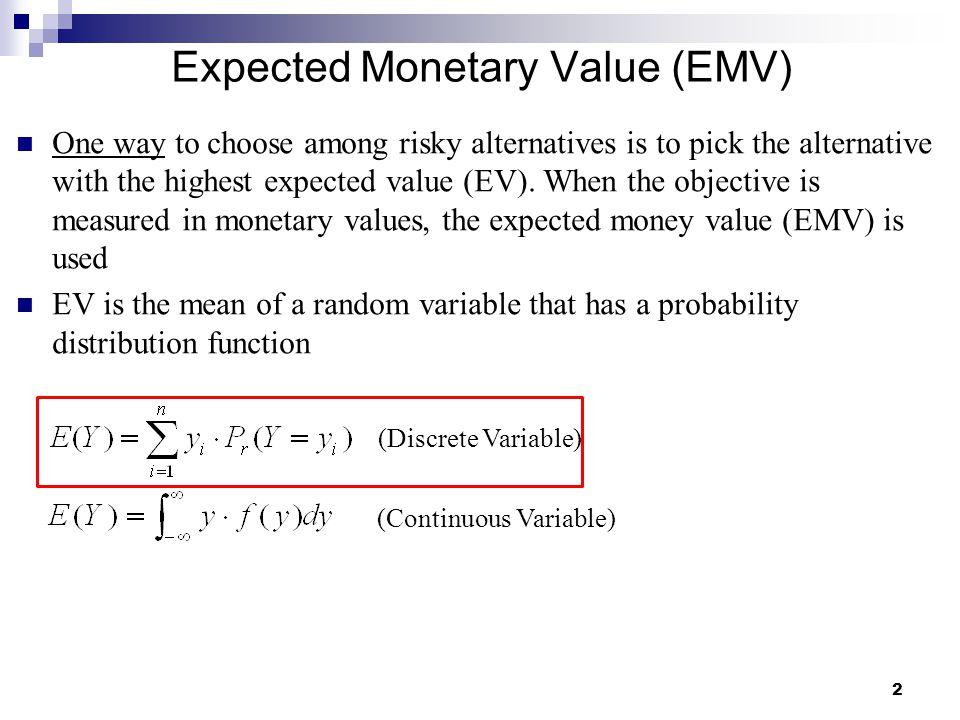 Expected Monetary Value (EMV)