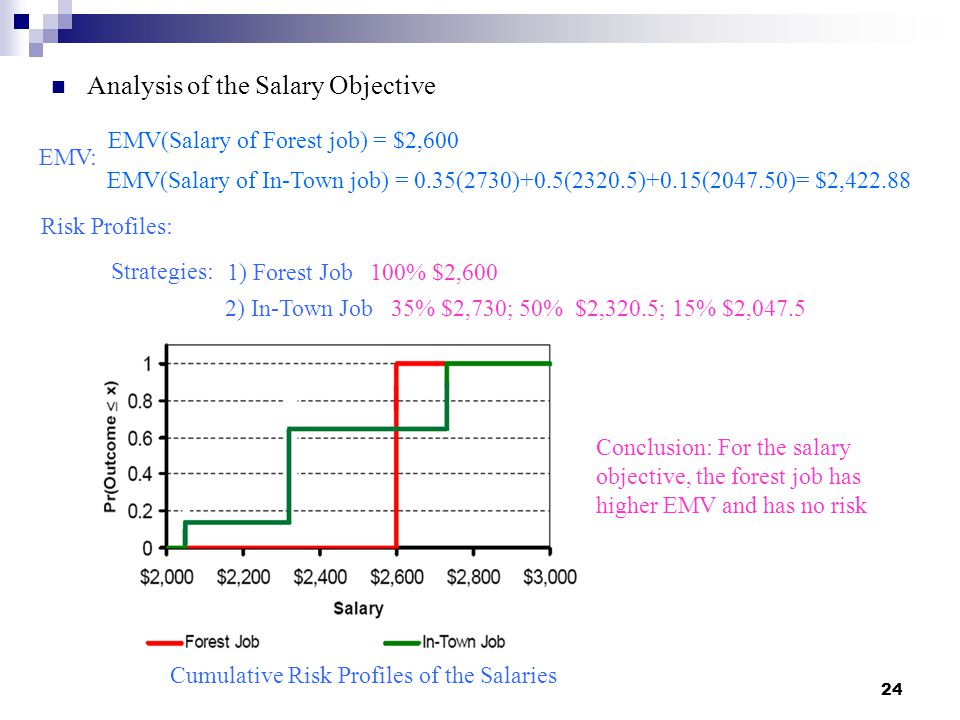 Analysis of the Salary Objective