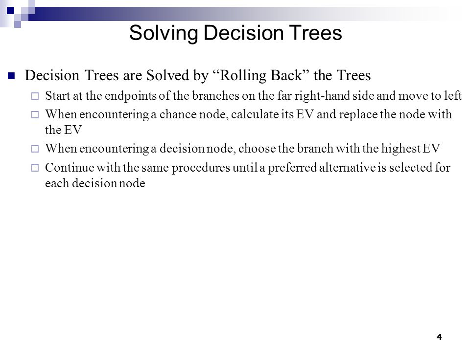 Solving Decision Trees