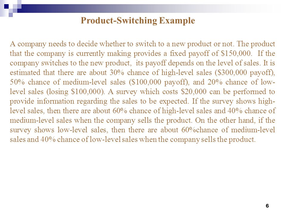Product-Switching Example