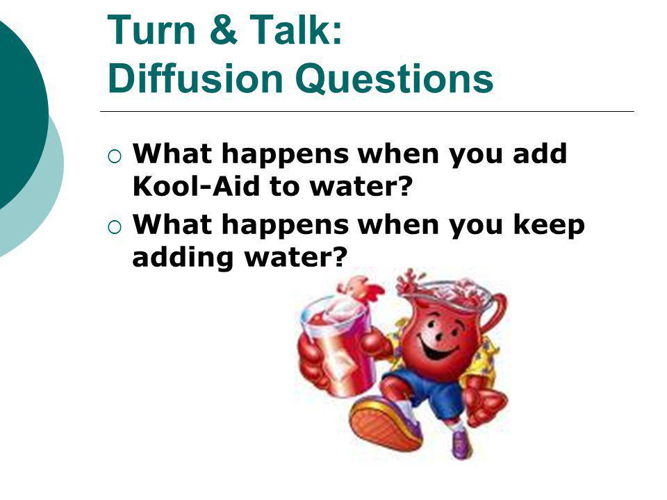 Turn & Talk: Diffusion Questions