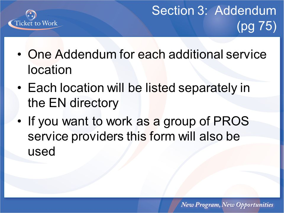 Section 3: Addendum (pg 75)