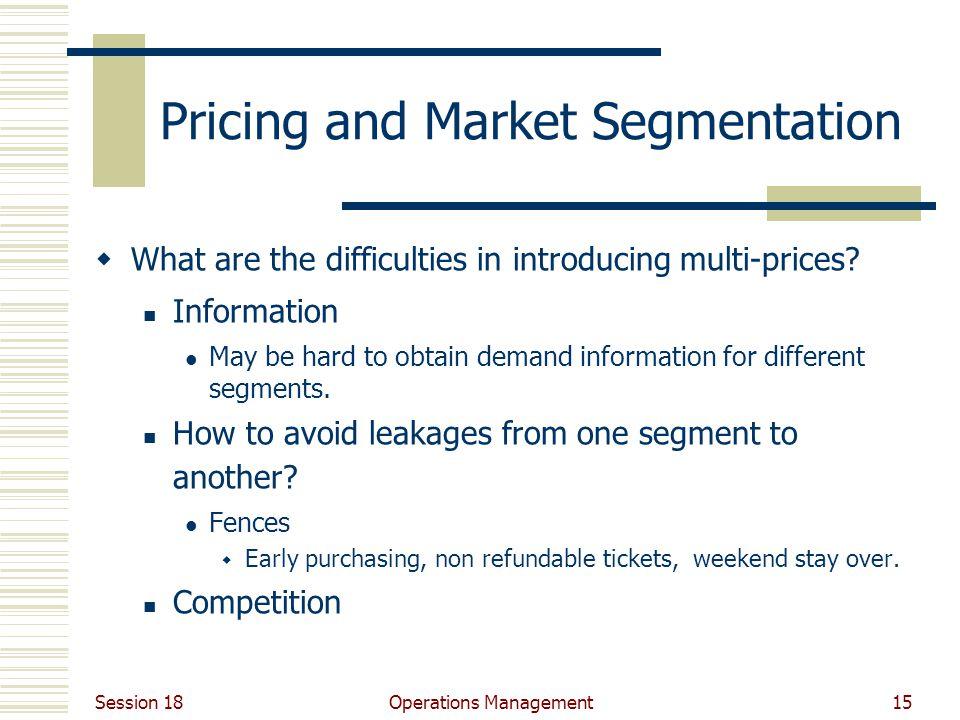 Pricing and Market Segmentation