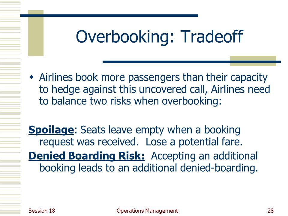 Overbooking: Tradeoff