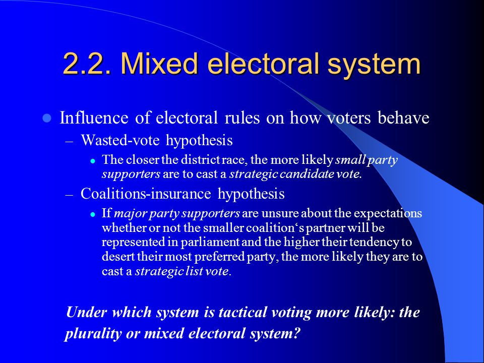 2.2. Mixed electoral system